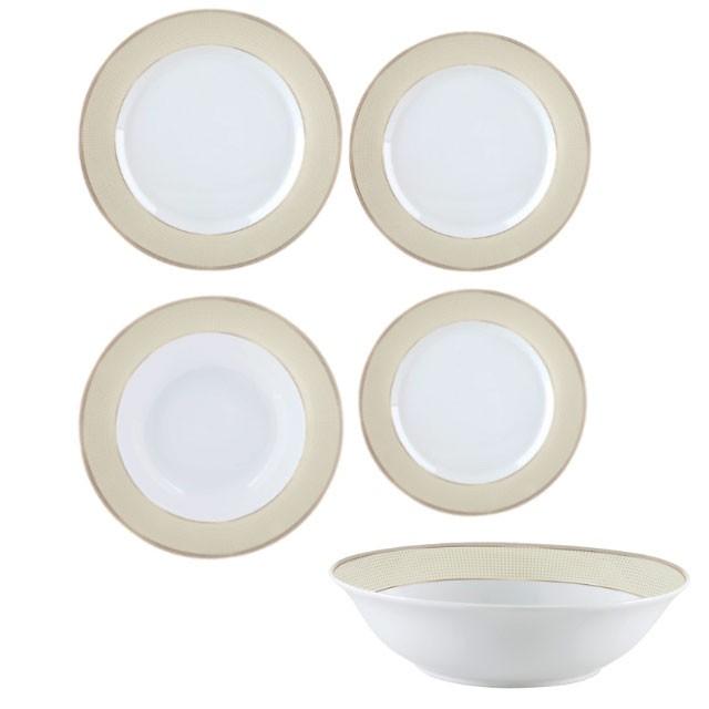 Σερβίτσιο Φαγητού στρογγυλό 20 Τεμάχια Gold Dot home   ειδη σερβιρισματος   πιάτα   σερβίτσια