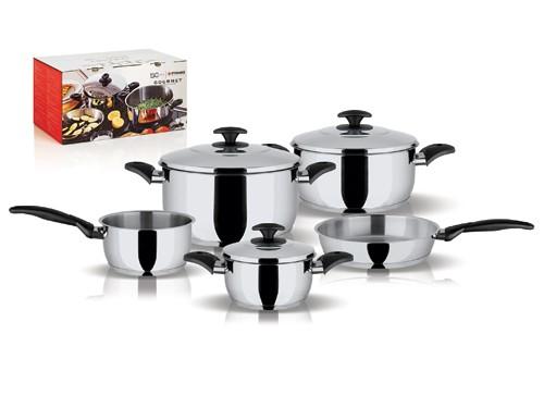 Σετ Μαγειρικά Σκεύη Gourmet 5Τμχ Pyramis home   σκευη μαγειρικης   κατσαρόλες χύτρες