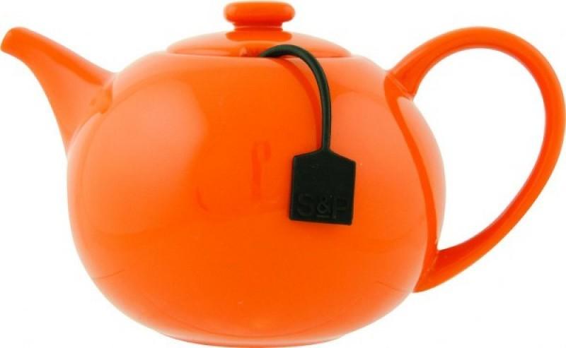 Τσαγιέρα S&P Πορσελάνη 1,5lt Με Φίλτρο Πορτοκαλί My Tea home   ειδη cafe τσαϊ   τσαγιέρες
