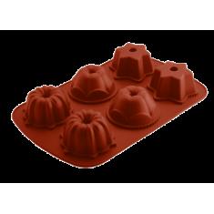 φόρμα σιλικόνης 6θέσεων muffin happy flex