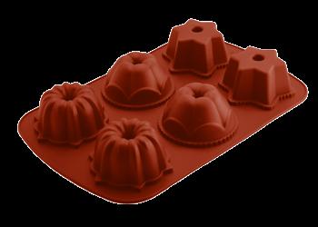 φόρμα σιλικόνης 6θέσεων muffin happy flex home   ζαχαροπλαστικη   φόρμες σιλικόνης