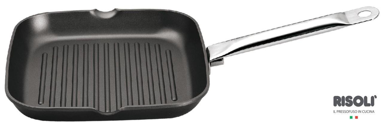 Γκριλιέρα Με Αντικολλητική Επίστρωση Teflon Classic 26cm x 26cm Risoli home   σκευη μαγειρικης   γκριλιέρες