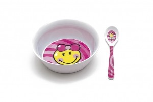 Μπολ Με κουταλάκι BeBe Smiley Kid Zak Designs Μελαμίνης Ροζ home   ειδη σερβιρισματος   πιάτα