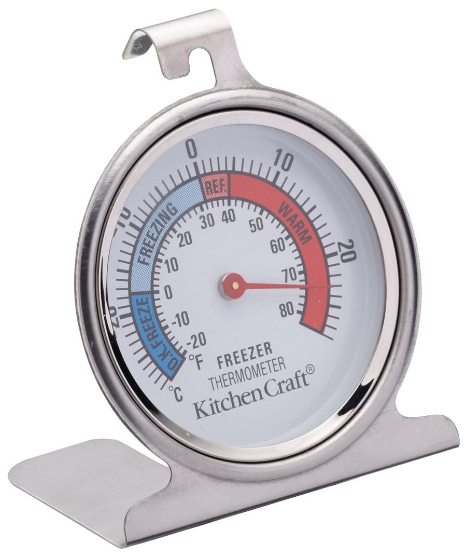 θερμόμετρο ψυγείου inox kitchencraft home   εργαλεια κουζινας   θερμόμετρα   χρονόμετρα