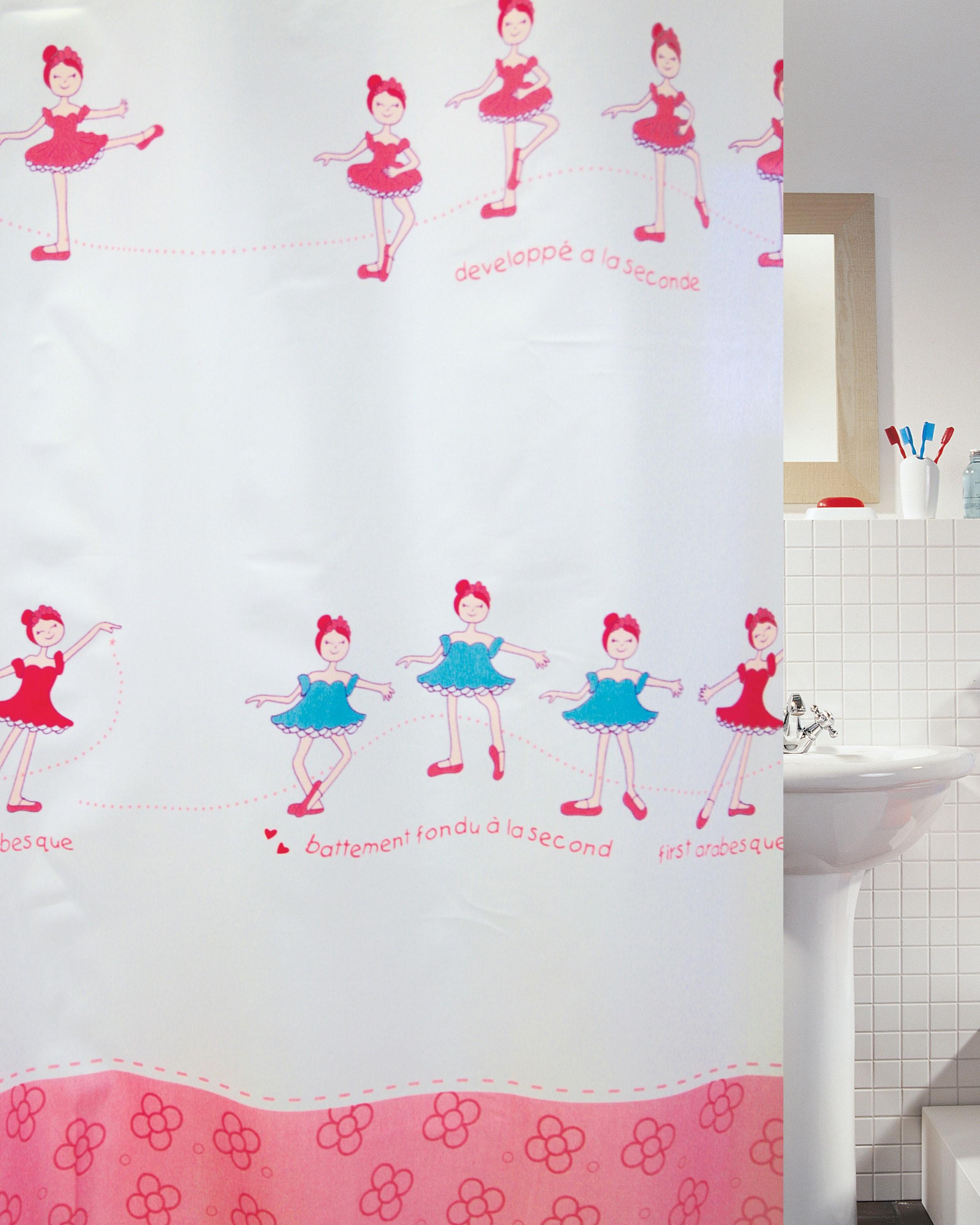 Κουρτίνα Μπάνιου Υφασμάτινη Happy Flower 180x200cm home   ειδη μπανιου   κουρτίνες μπάνιου