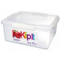 Δοχείο Τροφίμων Λευκό 5L BPA Free, SISTEMA