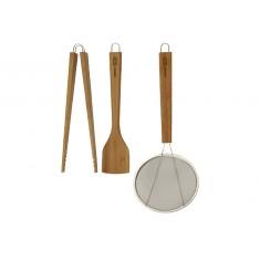 Εργαλεία Κουζίνας Lotus Σετ 3Τμχ Bamboo Typhoon