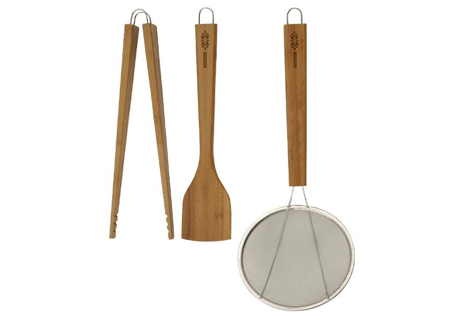 Εργαλεία Κουζίνας Lotus Σετ 3Τμχ Bamboo Typhoon home   ειδη σερβιρισματος   κουτάλες   σπάτουλες