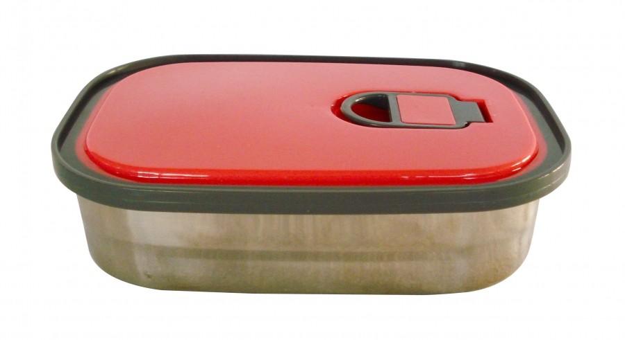 Φαγητοδοχείο Ανοξείδωτο 1,25Lt Κόκκινο home   αξεσουαρ κουζινας   δοχεία τροφίμων   βάζα αποθήκευσης