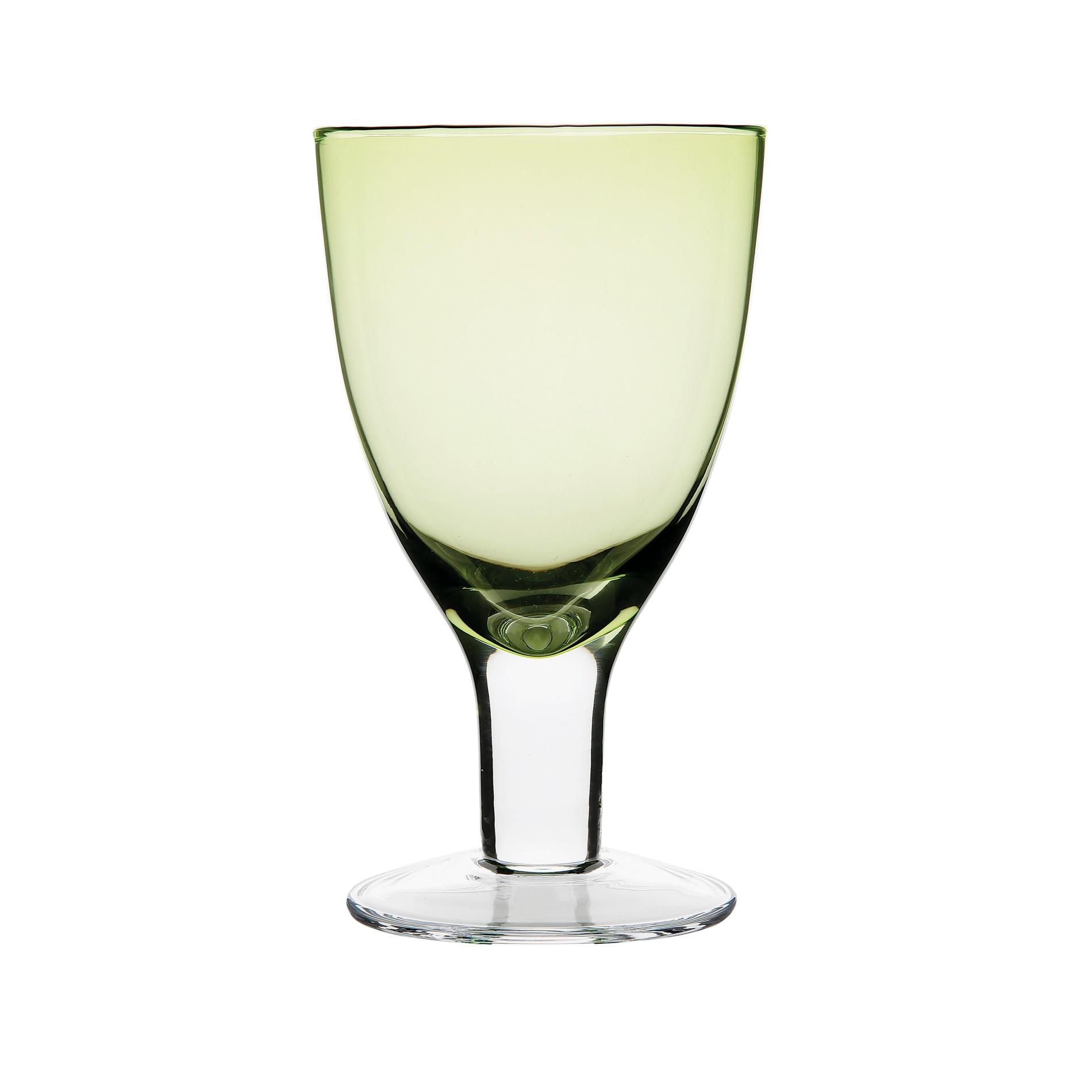 Ποτήρι Κρασιού Spring Σετ 6Τμχ Πράσινο 250ml Ionia
