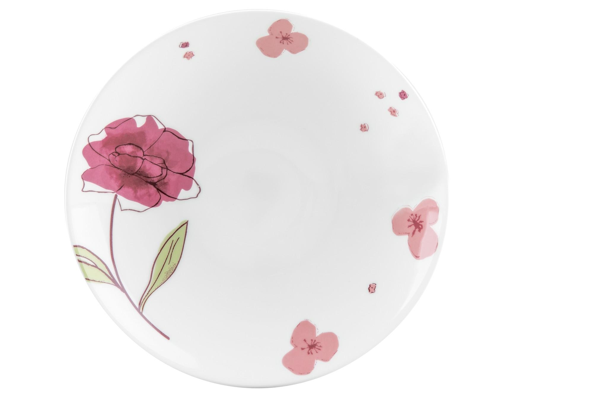 Πιάτο Βαθύ Σετ 6Τμχ Fleur White 25cm Ionia