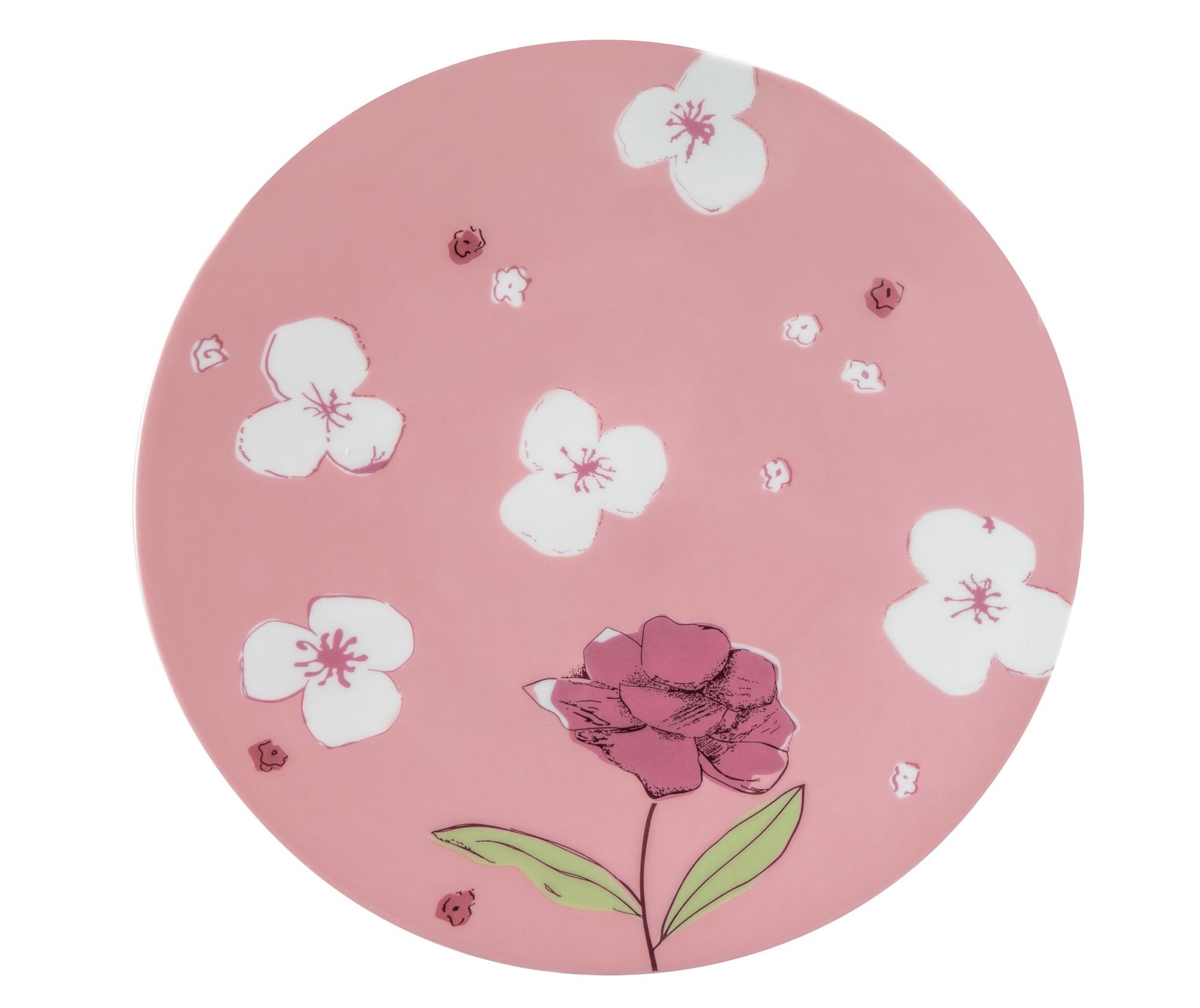 Πιάτο Ρηχό Σετ 6Τμχ Fleur Pink 28cm Ionia home   ειδη σερβιρισματος   πιάτα