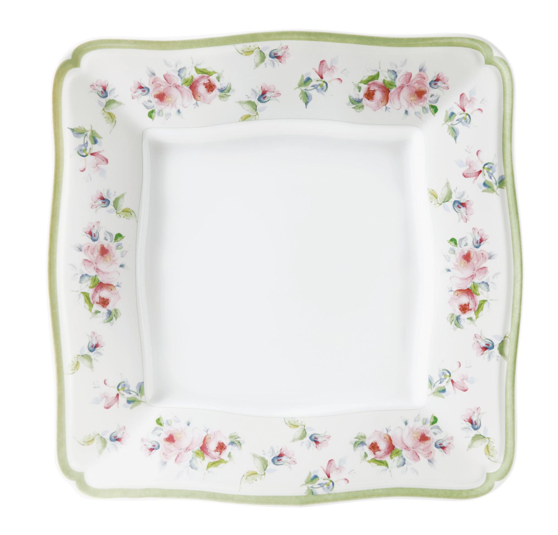 Πιάτο Ρηχό Τετράγωνο Σετ 6Τμχ Romantica 27cm Ionia home   ειδη σερβιρισματος   πιάτα