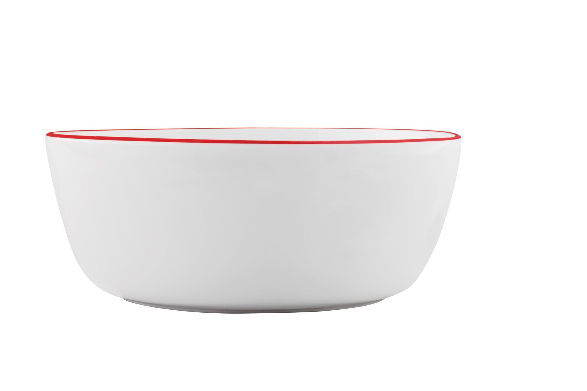 Μπολ Σαλάτας Symetry Red 24cm Ionia home   ειδη σερβιρισματος   μπολ   σαλατιέρες