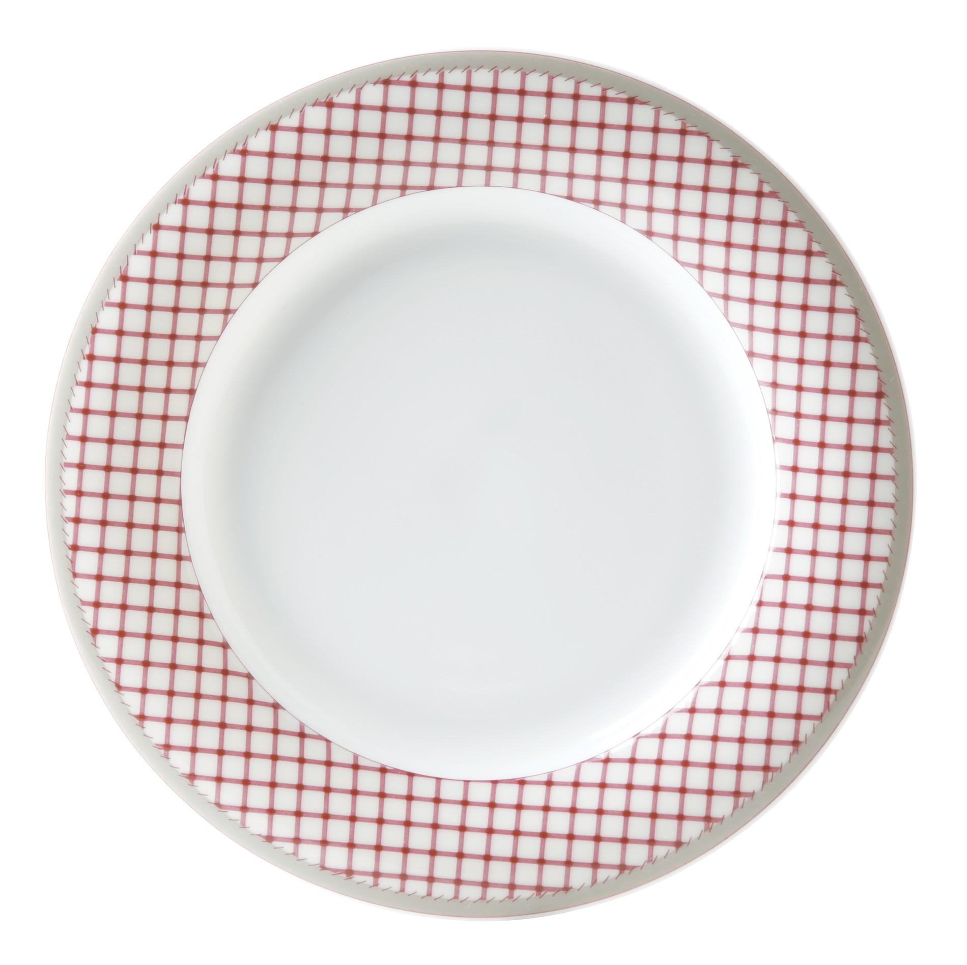 Πιάτο Φρούτου Σετ 6Τμχ Καρό Εξοχή 22cm Ionia home   ειδη σερβιρισματος   πιάτα