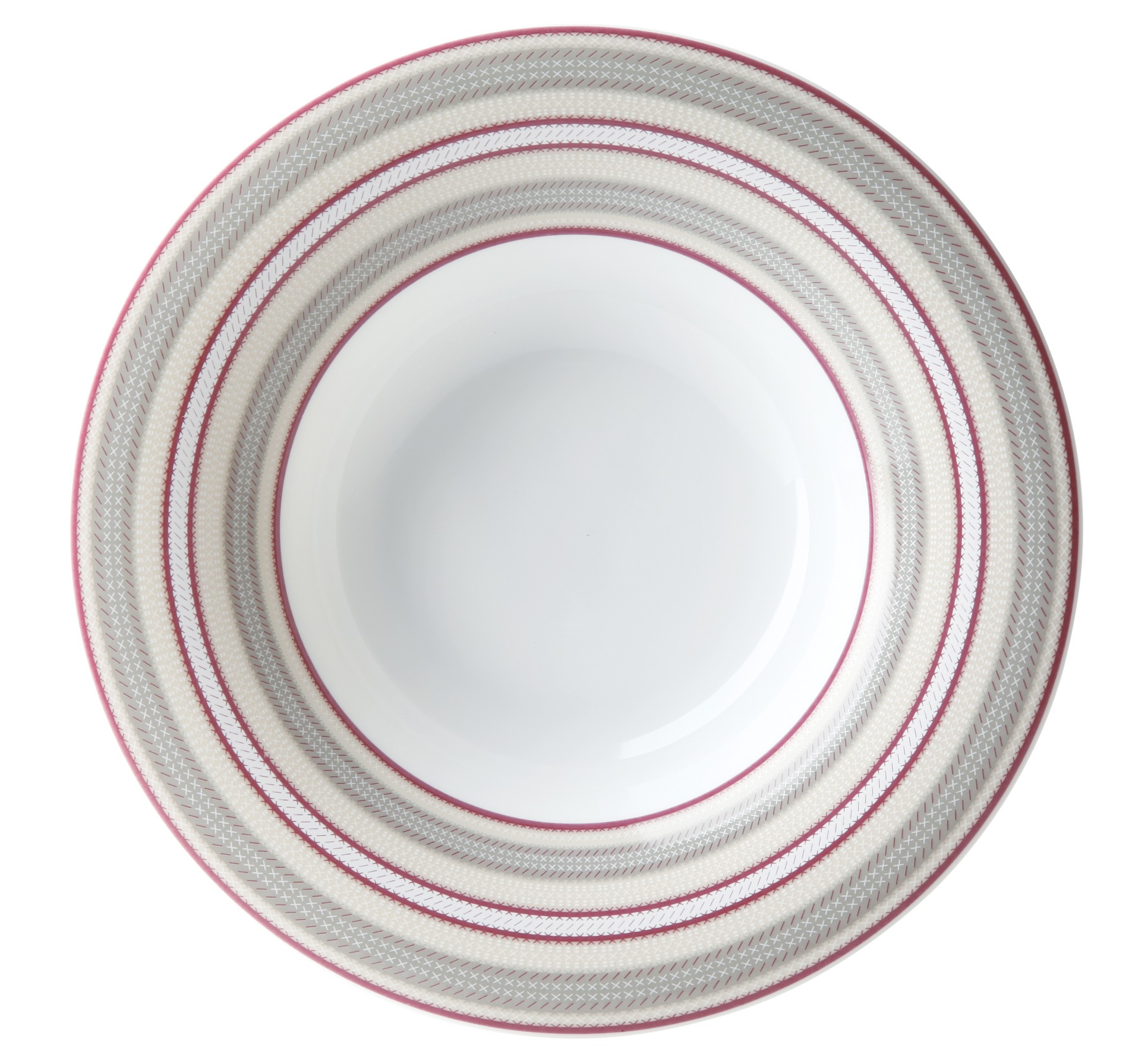 Πιάτο Βαθύ Ριγέ Σετ 6Τμχ Εξοχή 23cm Ionia home   ειδη σερβιρισματος   πιάτα