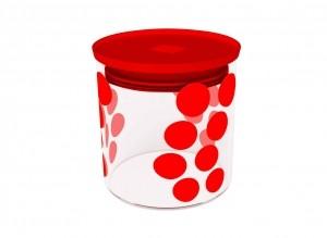 Δοχείο Αποθύκευσης Zak Designs Dot Dot Κόκκινο 0,65lt home   ειδη cafe τσαϊ   δοχεία καφε   ζάχαρης