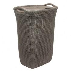 Καλάθι Απλύτων Knit 57Lt Καφέ Curver