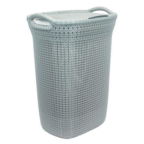 Καλάθι Απλύτων Knit 57Lt Γαλάζιο Curver home   ειδη μπανιου   καλάθια απλύτων