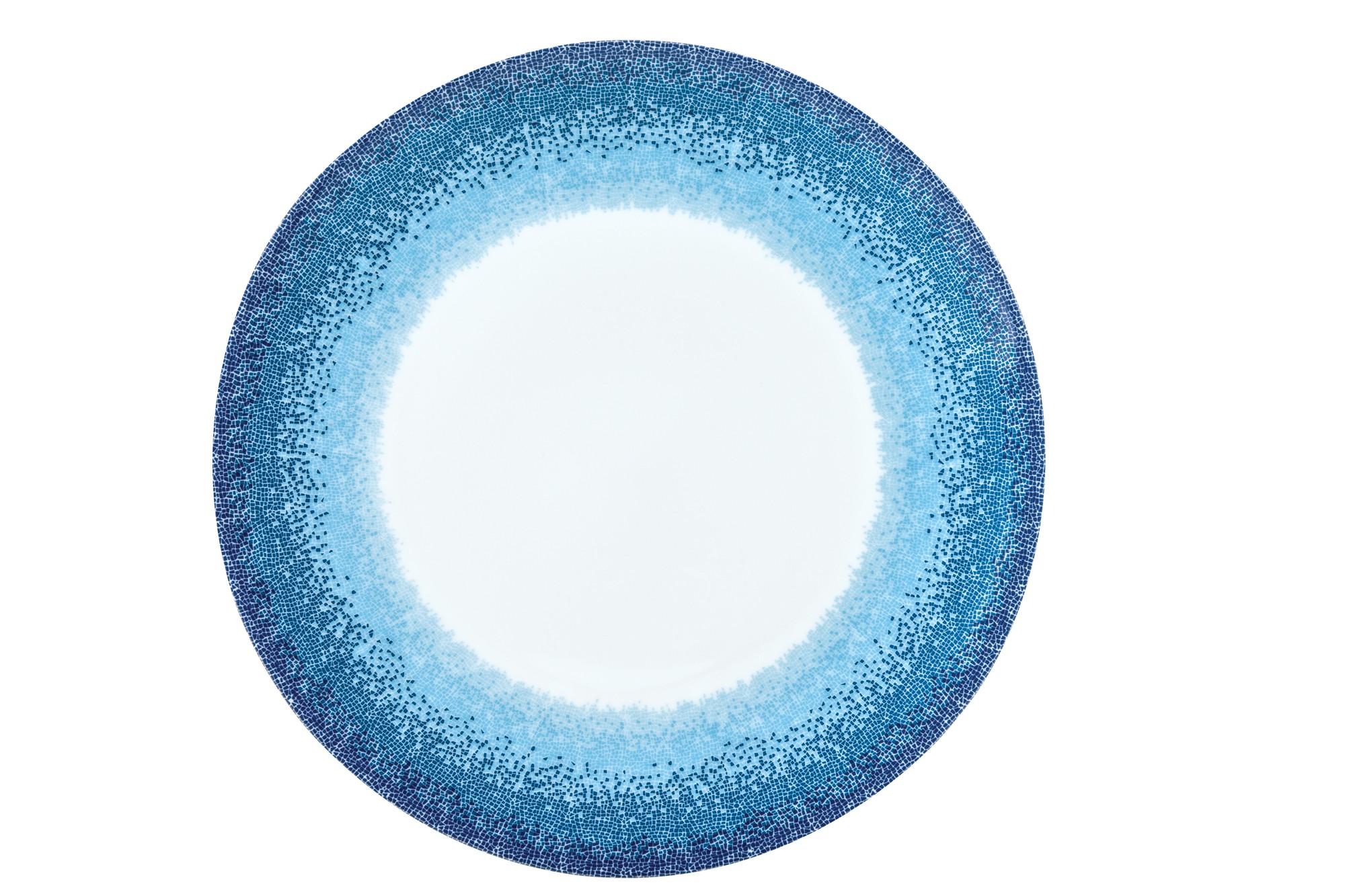 Πιατέλα Στρογγυλή Apeiron Blue 30cm Ionia home   ειδη σερβιρισματος   πιατέλες