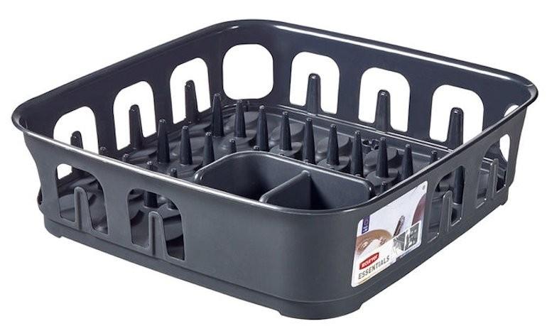 Πιατοθήκη Essentials Τετράγωνη Γκρι Curver home   αξεσουαρ κουζινας   πιατοθήκες   στεγνωτήρες