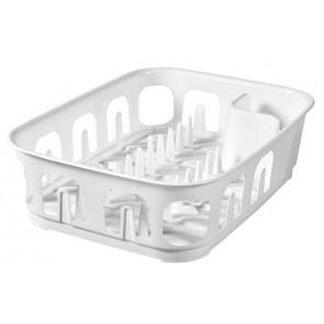 Πιατοθήκη Essentials Παραλληλόγραμμη Λευκή Curver home   αξεσουαρ κουζινας   πιατοθήκες   στεγνωτήρες