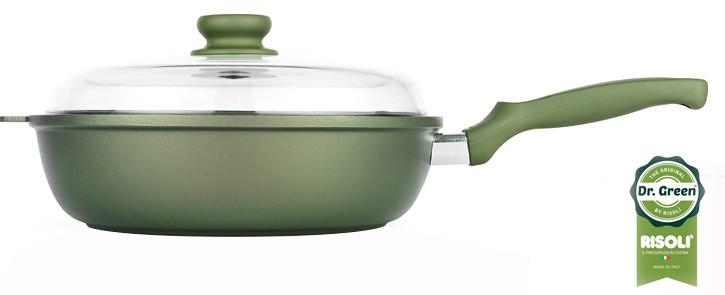 Τηγάνι Με Καπάκι Dr. Green Χυτού Αλουμινίου 28cm Risoli home   σκευη μαγειρικης   τηγάνια