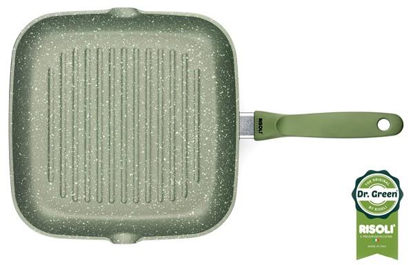 Γκριλιέρα Dr. Green Χυτού Αλουμινίου 26cm Risoli home   σκευη μαγειρικης   γκριλιέρες