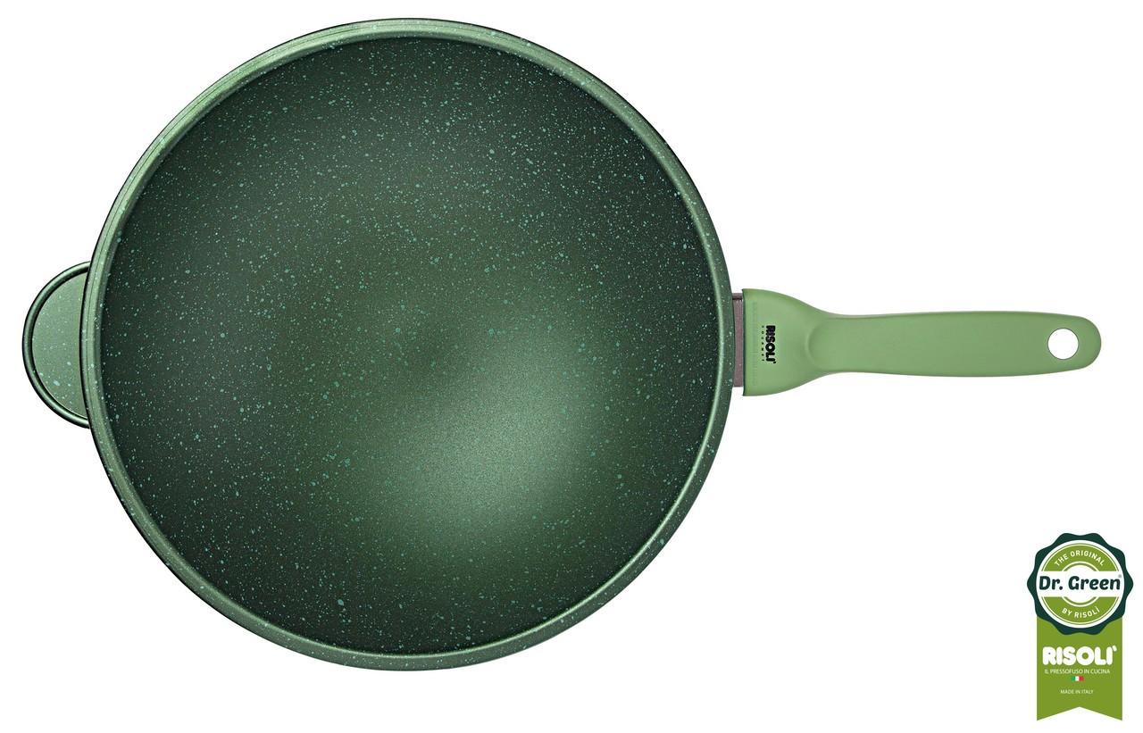 Wok Dr. Green Χυτού Αλουμινίου 30cm Risoli home   σκευη μαγειρικης   τηγάνια