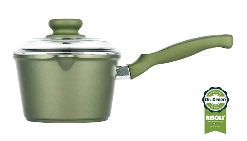 Γαλατιέρα Dr. Green Χυτού Αλουμινίου 16cm Risoli home   σκευη μαγειρικης   κατσαρόλες χύτρες