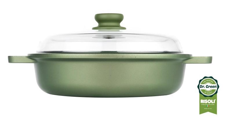 Ημίχυτρα Dr. Green Χυτού Αλουμινίου 28cm Risoli home   σκευη μαγειρικης   κατσαρόλες χύτρες