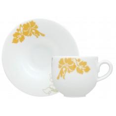 Φλυτζάνι & Πιάτο Καφέ Ιβίσκος Σετ 6τμχ Ionia
