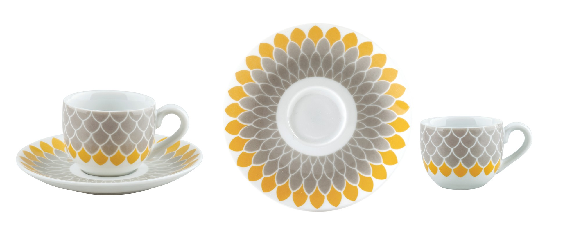 Φλυτζάνι & Πιάτο Τσαγιού Helios Σετ 6τμχ Ionia home   ειδη cafe τσαϊ   κούπες   φλυτζάνια