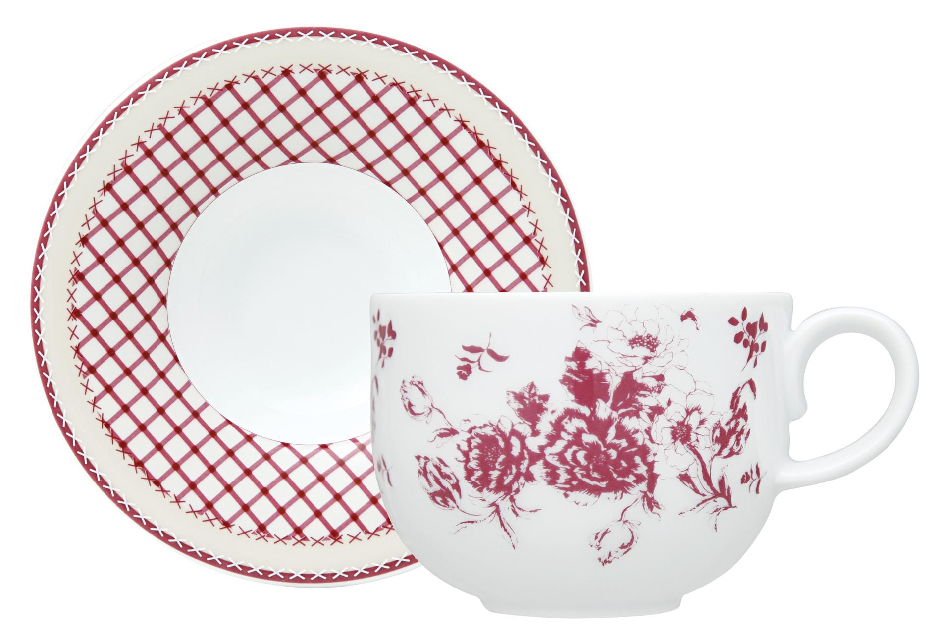 Φλυτζάνι & Πιάτο Τσαγιού Εξοχή Σετ 6τμχ Ionia home   ειδη cafe τσαϊ   κούπες   φλυτζάνια