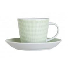 Φλυτζάνι & Πιάτο Καφέ Punrto Green Σετ 6τμχ Ionia