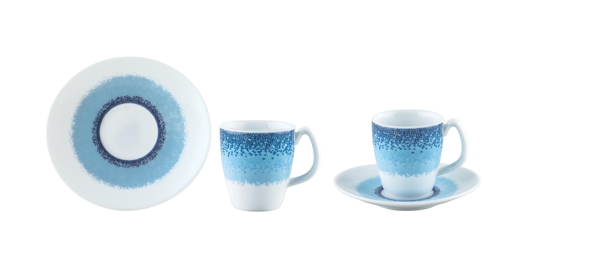 Φλυτζάνι & Πιάτο Καφέ Apeiron Blue Σετ 6τμχ Ionia home   ειδη cafe τσαϊ   κούπες   φλυτζάνια