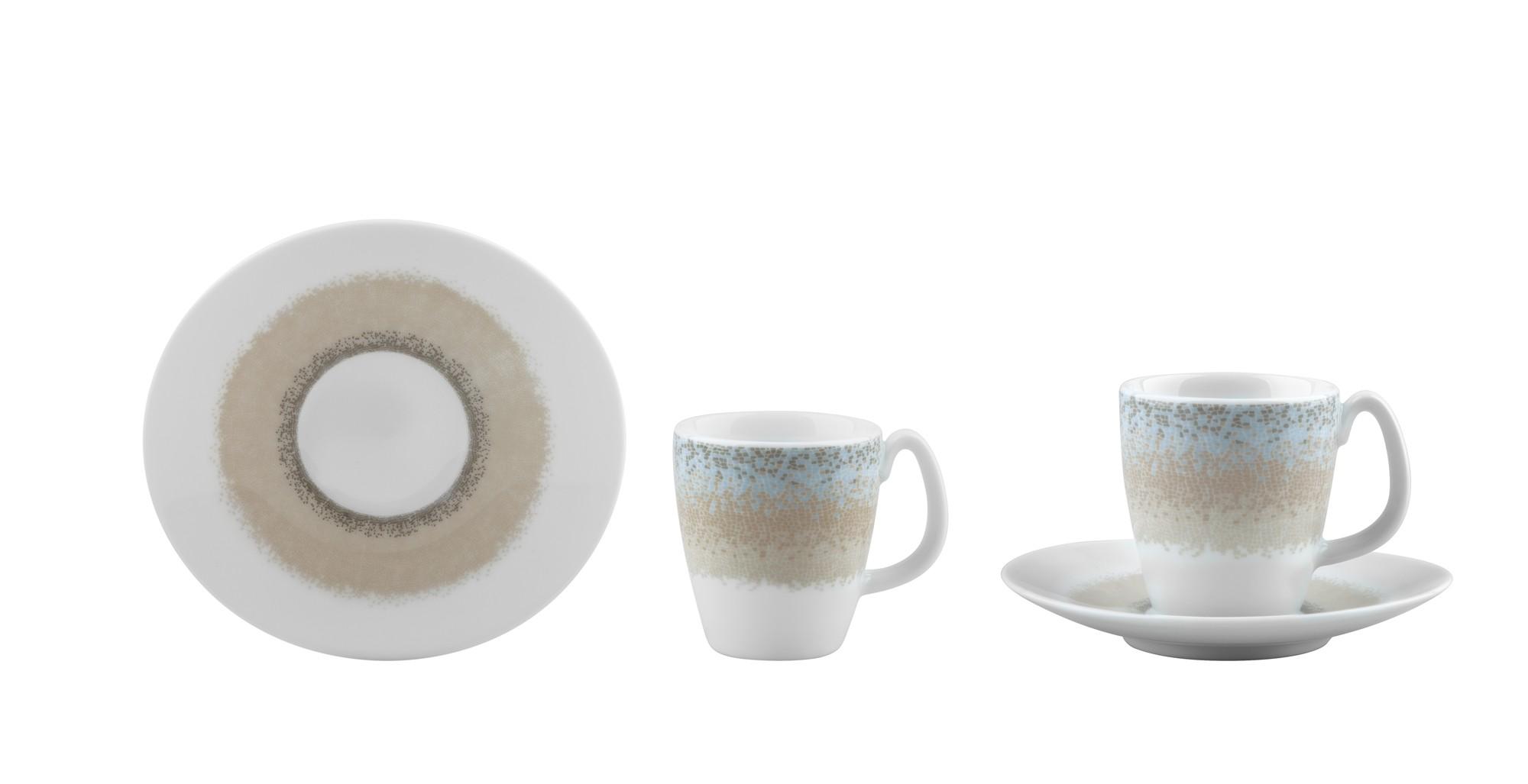 Φλυτζάνι & Πιάτο Καφέ Apeiron Beige Σετ 6τμχ Ionia home   ειδη cafe τσαϊ   κούπες   φλυτζάνια