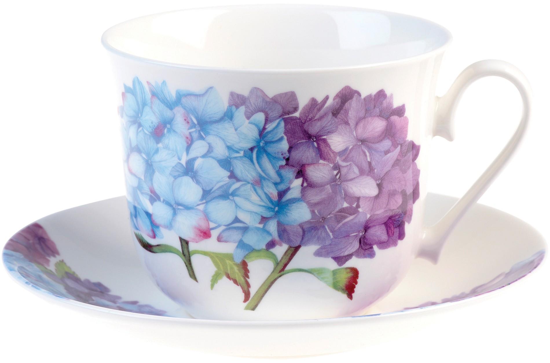 Φλυτζάνι Πρωινού Fine Bone China Hydrangea Ian Kirkham home   ειδη cafe τσαϊ   κούπες   φλυτζάνια