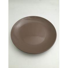 Πιάτο Ρηχό Happy Ware Πορσελάνης Καφέ Alfa 21cm