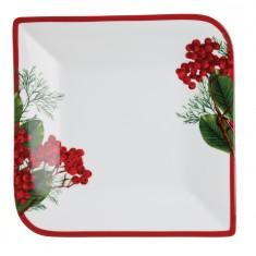 Πιατέλα Τετράγωνη Red Berry 27cm Ionia