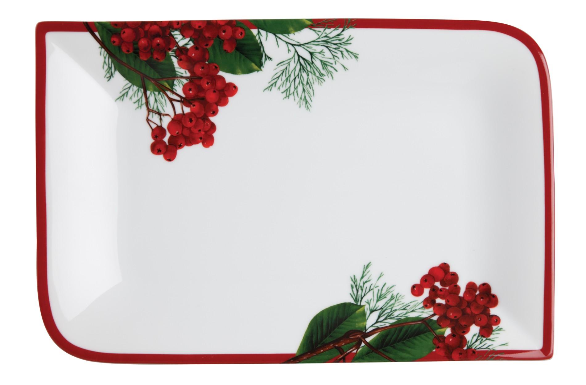 Πιατέλα Ορθογώνια Red Berry 34cm Ionia home   ειδη σερβιρισματος   πιατέλες
