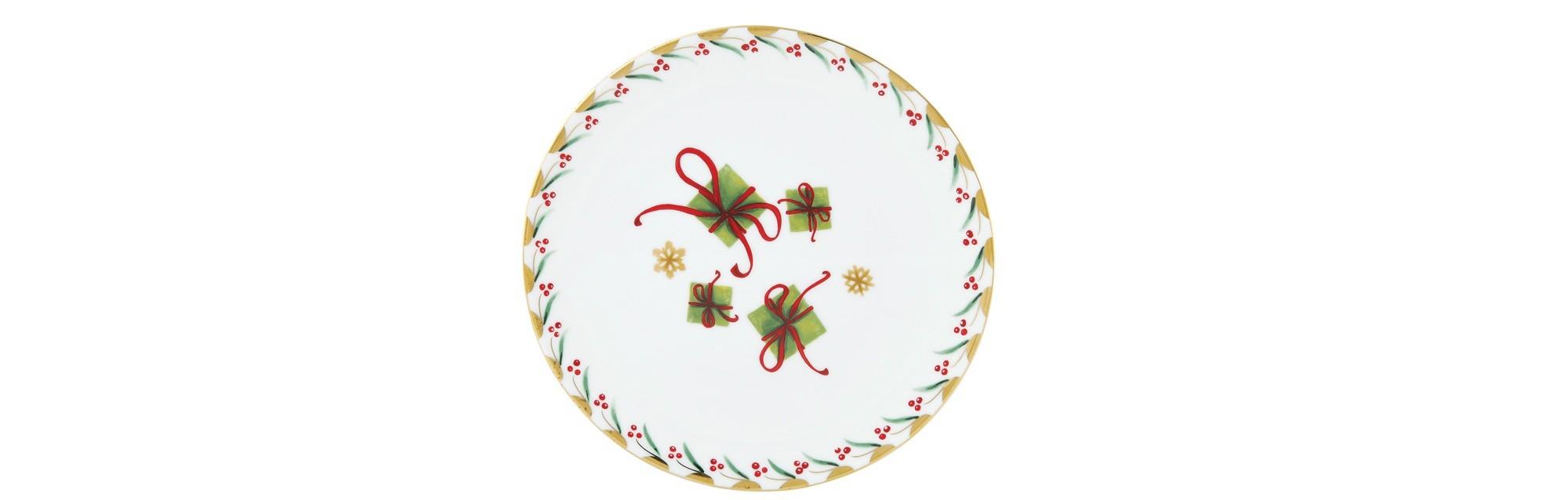 Πιάτο Φρούτου Στρογγυλό Δωράκια Noel 21cm Ionia home   ειδη σερβιρισματος   πιάτα