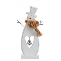 Χιονάνθρωπος Ξύλινος Διακοσμητικός Μικρός