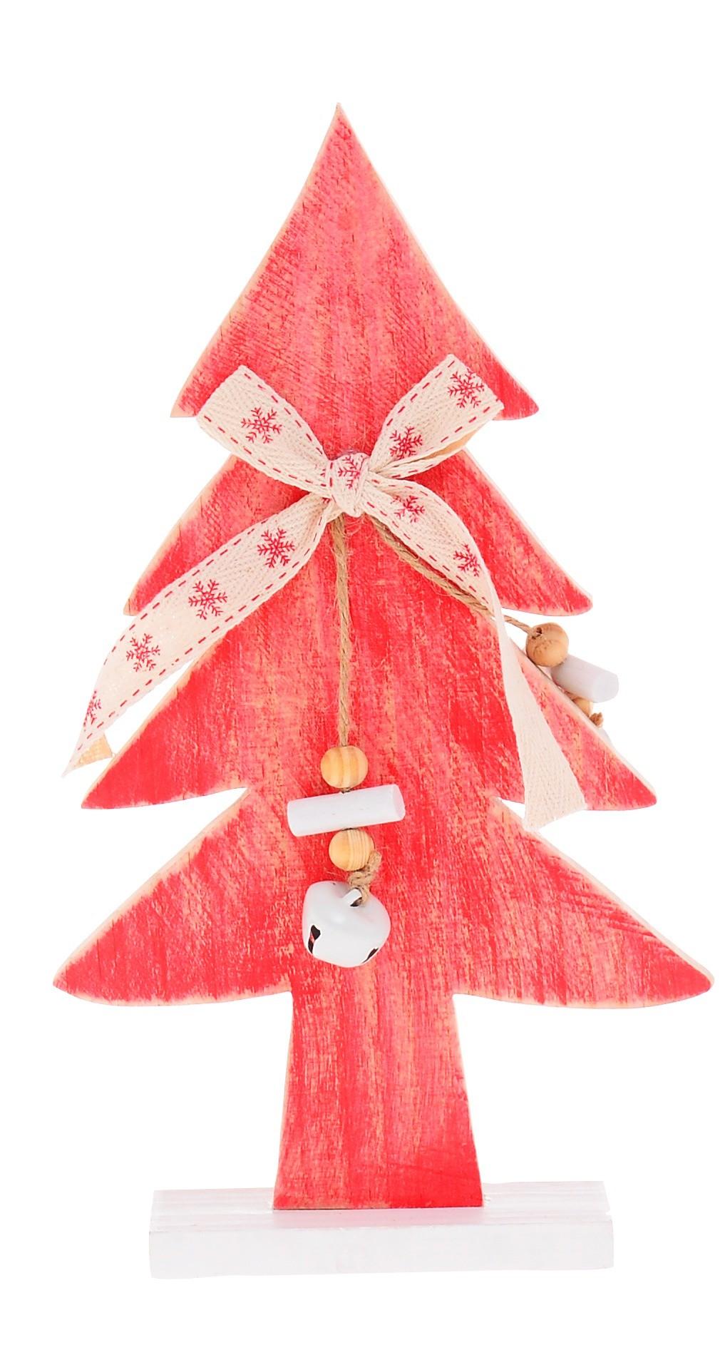 ξύλινο Διακοσμητικό Δεντράκι Κόκκινο home   χριστουγεννιατικα