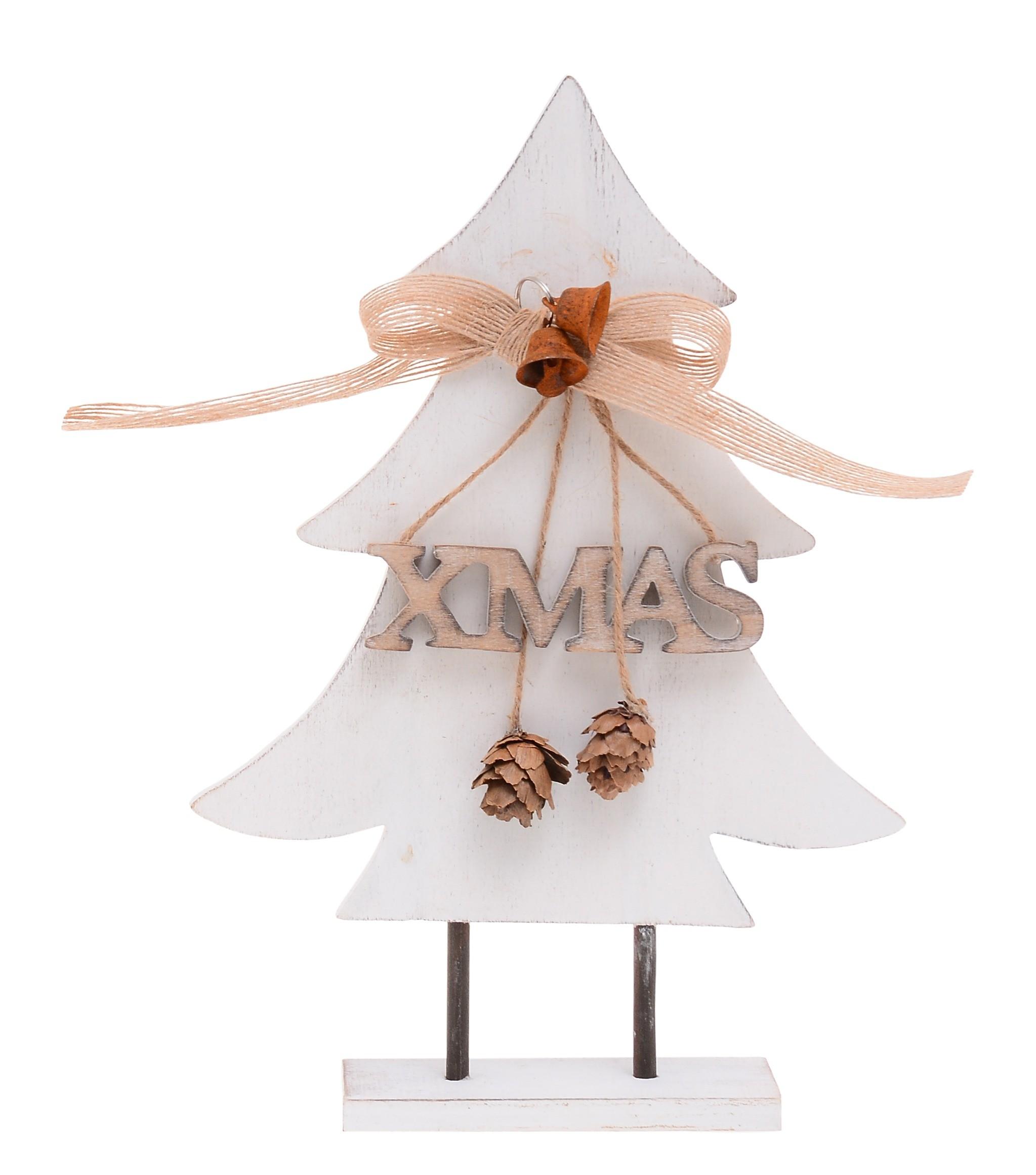 Ξύλινο Διακοσμητικό Δεντράκι Λευκό home   χριστουγεννιατικα