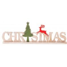 Ξύλινο Διακοσμητικό Christmas Λευκό