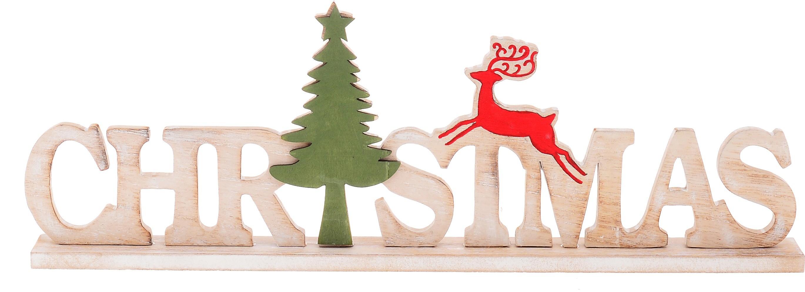 Ξύλινο Διακοσμητικό Christmas Λευκό home   χριστουγεννιατικα