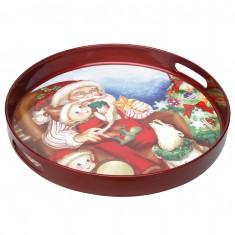 Δίσκος Χριστουγεννιάτικος Στρογγυλός Αγιος Βασίλης