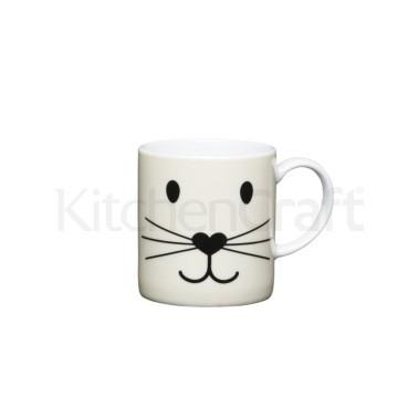Φλυτζάνι Πορσελάνης Espresso Cat Face Kitchencraft home   ειδη cafe τσαϊ   κούπες   φλυτζάνια
