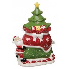 Μπισκοτιέρα Κεραμική Χριστουγεννιάτικο Δέντρο